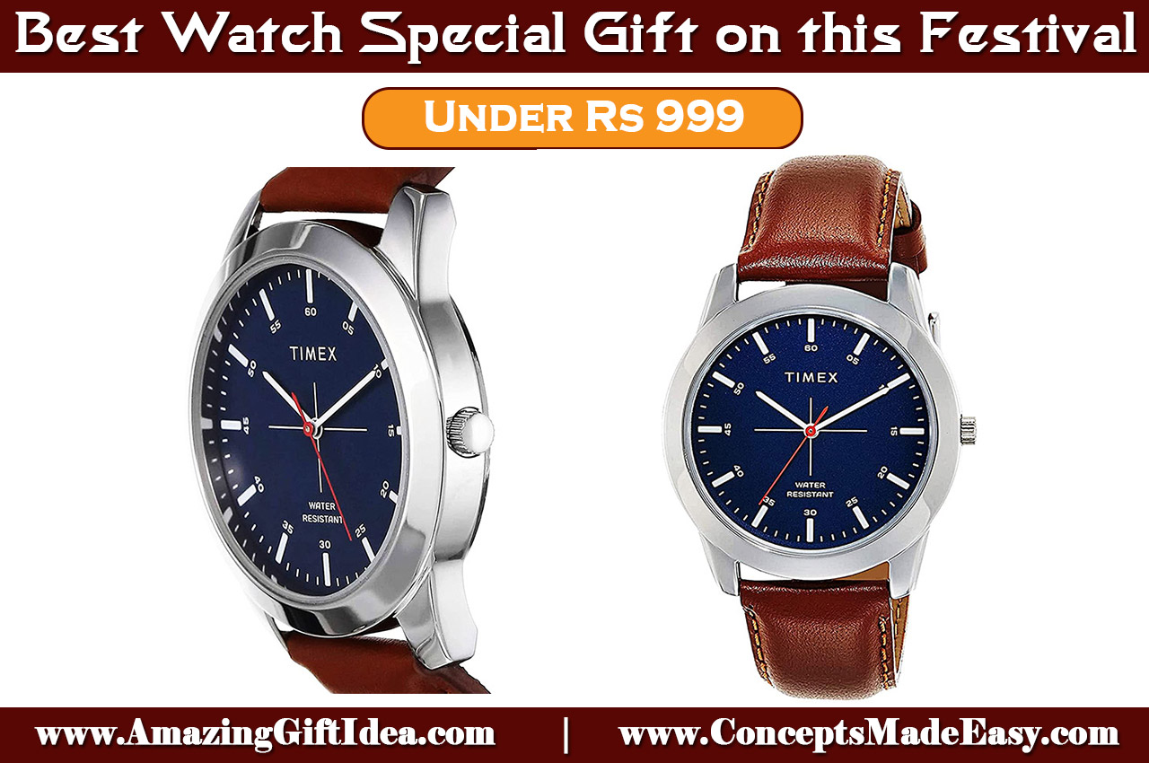 Best Watch Special Gift Under Rs 999 - Timex Analog Blue Men's Watch for your family and friends on this festival occasion from AmazingGiftIdea.com